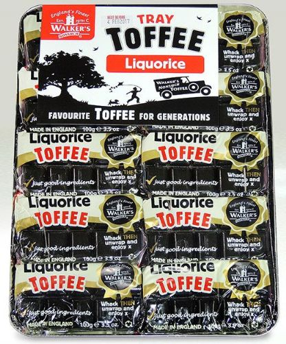 L106 WALKERS ANDY PACK LIQUORICE TOFFEE TRAY